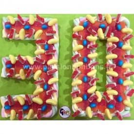 Chiffre 30 en bonbons