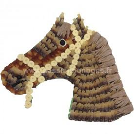 Tête de cheval en bonbons