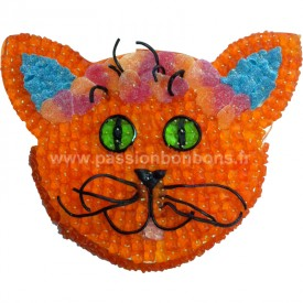 Tête de chat en bonbons