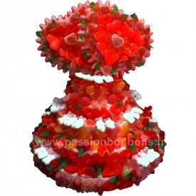 Gâteau mariage en bonbons