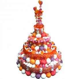 Pièce montée anniversaire en bonbons