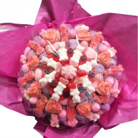 Bouquet de fleurs en bonbons