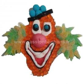 Tête de clown en bonbons