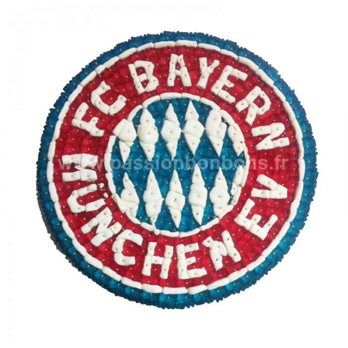 le logo du bayern de m252nich en bonbons