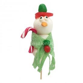 Bonhomme de neige écharpe verte