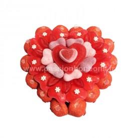 Un coeur tout en bonbons