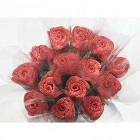 Un bouquet de roses en bonbons