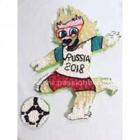 Mascotte Aabivaka de la coupe du monde de foot 2018