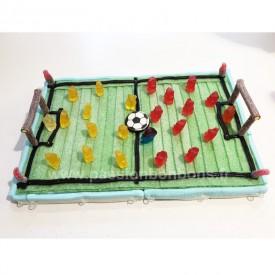 Terrain de foot en bonbons