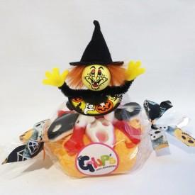 Gâteau de bonbons avec une sorcière