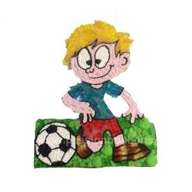 Un footballeur en bonbons