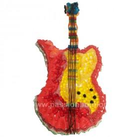 Une guitare électrique en bonbons