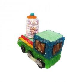 Locomotive en bonbons vue arrière