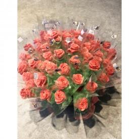 Bouquet de roses en bonbons