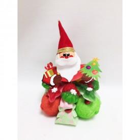 Tartelette en bonbons avec son père Noël