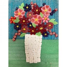 Un bouquet de bonbons sous forme de tableau