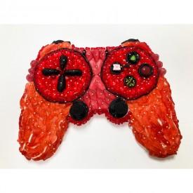 Une manette de console de jeux en bonbons