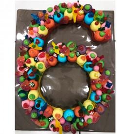 """Le chiffre """"6"""" en bonbons"""