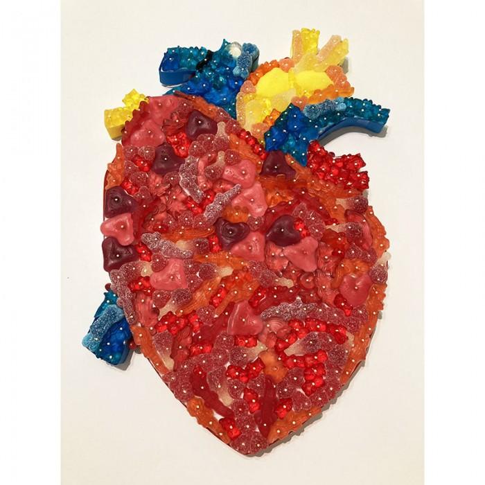 """L'organe """"coeur"""" en bonbons"""