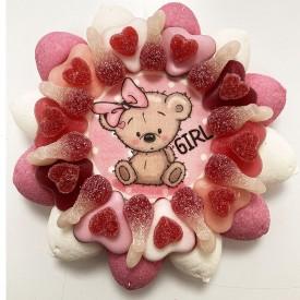 Gâteau de bonbons pour l'arrivée d'une fille