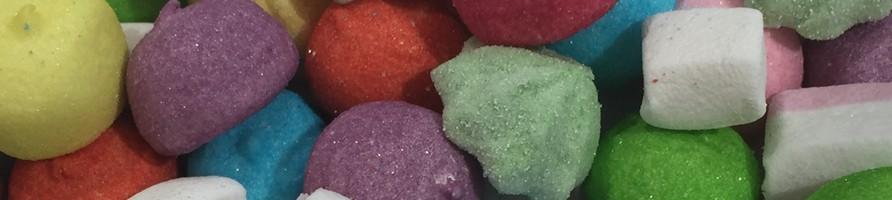 Les bonbons au poids en guimauve
