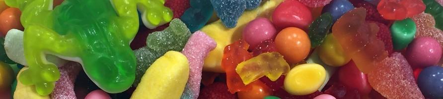 Les bonbons au poids sans gluten
