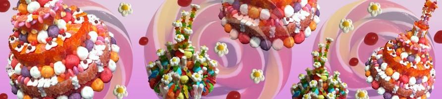 Les pièces montées de bonbons