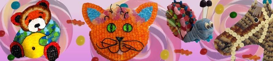 Les gâteaux de bonbons animaux