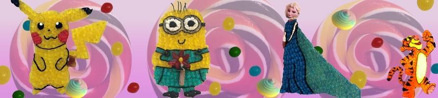 Les gâteaux de bonbons personnages