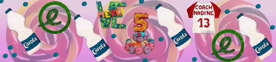 Les gâteaux de bonbons chiffres et lettres