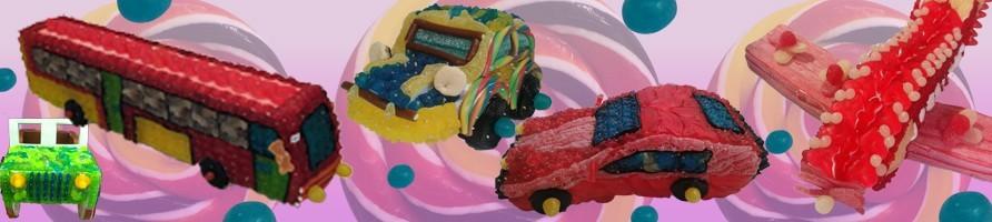 Les gâteaux de bonbons véhicules