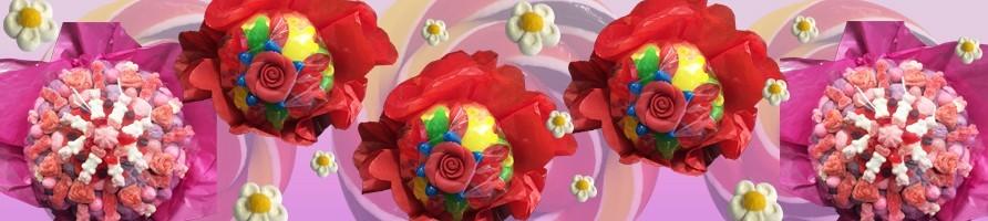 Les bouquets de fleurs bonbons