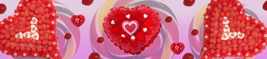 Les gâteaux de bonbons coeurs