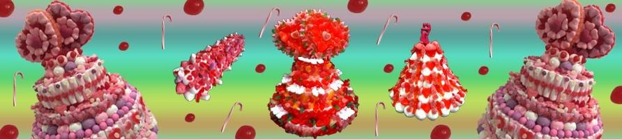 Les gâteaux de bonbons mariage