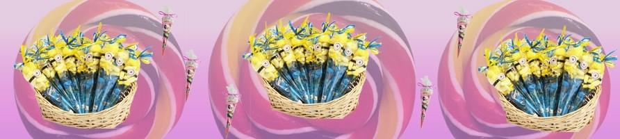 Les cornets garnis de bonbons